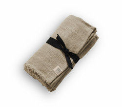 Rustic Raw Tablecloth 90x250 Natural Beige