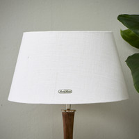 Chic Lampshade white gold 28x38
