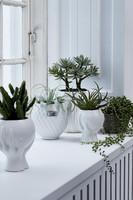 Haniya Flower Pot White  H 16,5 cm