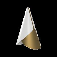 Cornet White & Brass