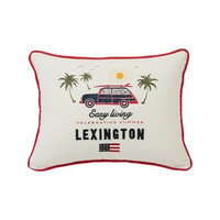 Surf Car Cotton Pillow Cover, White