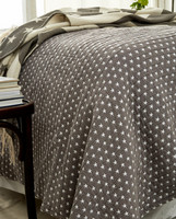 Icons Star Bedspread Medium Gray 260x240