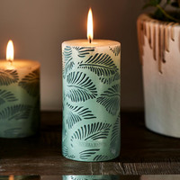 Palm Leaves Candle 7x14