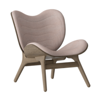 Conversation Piece Armchair Dark oak - Dusty Rose