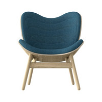 Conversation Piece Armchair Oak - Petrol blue