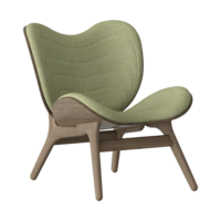 Conversation Piece Armchair Dark oak - Spring green