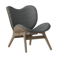 Conversation Piece Armchair Dark oak - Slate grey
