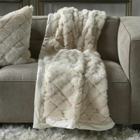 Diamond Faux Fur Throw 170x130