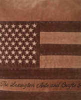 Arts & Crafts Cotton Velvet Pillow Cover Brown