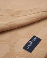 Jacquard Cotton Velvet Bedspread Dark Beige
