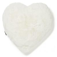 Fluffy Heart pillow Valkoinen