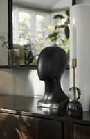 Lady Bust Black Wood