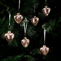 Merry Christmas Heart Ornament 6pcs