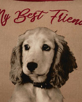 Best Friend Printed Cotton Twill Pillow Cover
