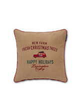 Holiday Car Cotton Twill Pillow Cover