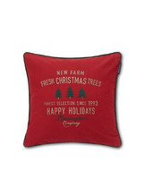 Farm Christmas trees Cotton Twill Pillow Cover