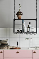 LOFT rack/shelf, black metal
