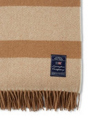 Herringbone Recycled Wool Throw beige 130 x 170 cm