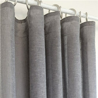 Linen Mix Curtain 140x250 Grey