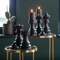 Chess Play Queen Candle Holder
