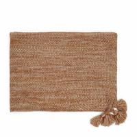 Desert Knitted Throw 180x130 brown
