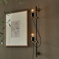 Hoxton 2 Fitting Wall Lamp black