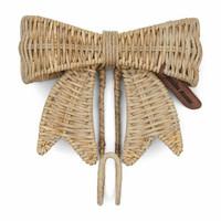 Rustic Rattan Pretty Bow Hook