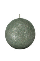 Glitter  Ball Candle 10cm Seagrass