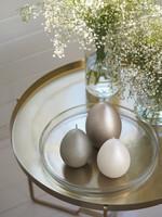 Velvet egg candle L Pearl