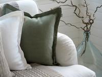 Arona linen cushion cover 45 x45 cm seagrass