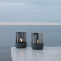 Calma Tealight holder Steel Grey/Smoke S
