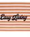 Graphic Cotton Velour Beach Towel peach melon/ white 100 x 180 cm