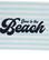Graphic Cotton Velour Beach Towel turquise/ white 100 x 180 cm