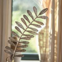 Rustic Rattan Leaf Bamboo