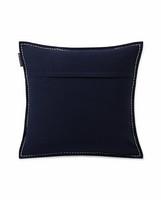 Cotton Twill Logo Message Pillow cover 50x50 Sininen