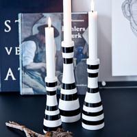 Omaggio Candlestick L Black