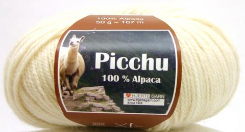 Hjerte Garn 100% Alpaca Luonnonvalkoinen