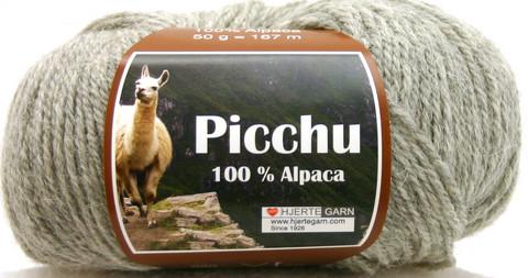 Hjerte Garn 100% Alpaca Vaaleanharmaa