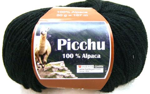 Hjerte Garn 100% Alpaca Musta