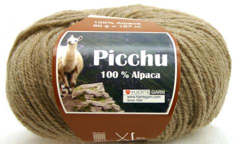 Hjerte Garn 100% Alpaca Vaaleanruskea