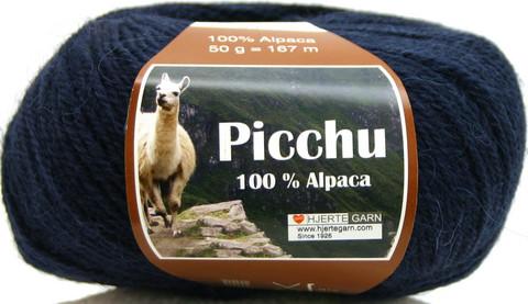 Hjerte Garn 100% Alpaca Tummansininen