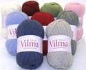 Viking Vilma on Norjassa  valmistettu keskivahva villasekoitelanka.