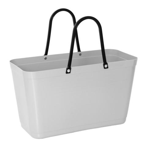 Hinza laukku - Green plastic Large Light Grey
