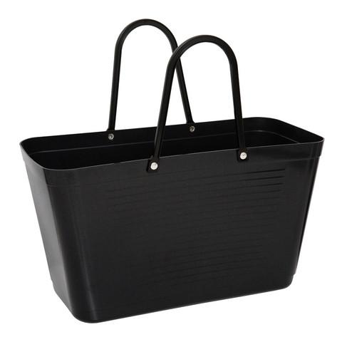 Hinza laukku - Green plastic Large Black