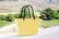 Hinza laukku - Green plastic Small Lemon