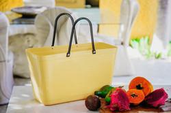 Hinza laukku - Green plastic Large Lemon