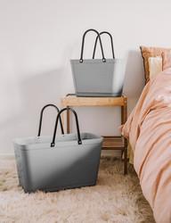 Hinza laukku - Green plastic Small Light Grey