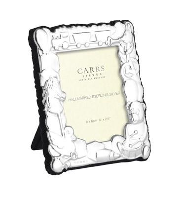 Carrs CH2B nalle 8x6 hopeinen valokuvakehys