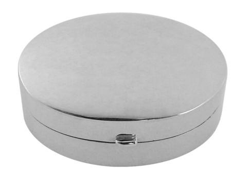 Ovaali pieni hopeinen pillerirasia PB404