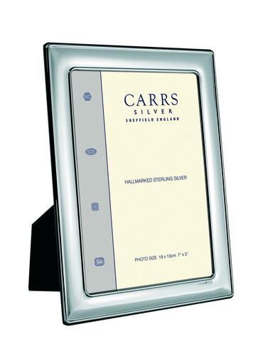 Carrs FR074/W 15x10 hopeinen valokuvakehys helmireunalla